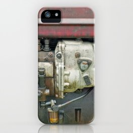 vintage red - old tractor engine iPhone Case
