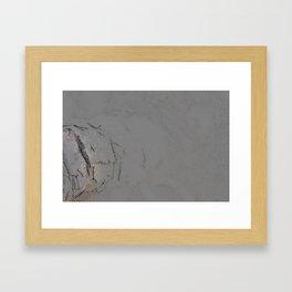 Charcoal drawing organic nature tree minimalism abstract giclee print Framed Art Print