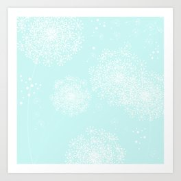 DANDY SNOWFLAKE AQUA Art Print