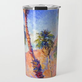 Palm Trees, Palm Springs, Desert Palms Southwestern Landscape Travel Mug