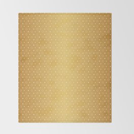 Art Deco, Simple Shapes Pattern 1 [RADIANT GOLD] Throw Blanket