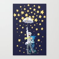 dmmd Canvas Prints featuring DMMd :: The stars are falling by Magnta