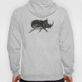 Beetle 1. Black on white background Hoody
