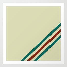 Vintage Racing Stripe Art Print