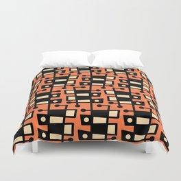 Mid Century Modern Abstract 212 Orange Duvet Cover