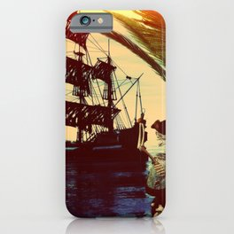 pirate ship iPhone Case
