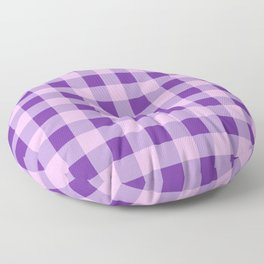 Purple and Pink Check Floor Pillow