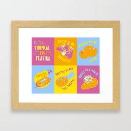 Tropical Fruit Festival Framed Art Print