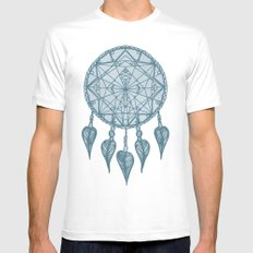 Dream Catcher MEDIUM White Mens Fitted Tee