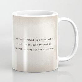 The One Less Traveled By Coffee Mug