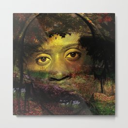 Looking at you from a deep forest. Metal Print