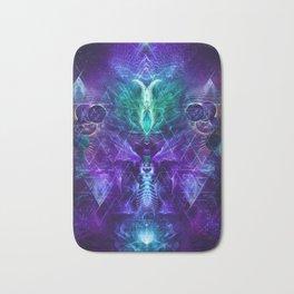 Psychonaut - Fractal Manipulation - Psychedelic Visionary - Manafold Art Bath Mat