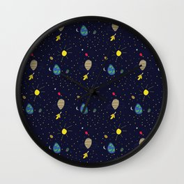 My Daughter Draws Space Wall Clock