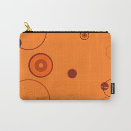 Orange retro style circles on orange  background Carry-All Pouch