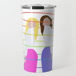 Two Girls Rainbow Swirl Travel Mug