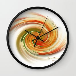 The whirl of life, W1.6A Wall Clock