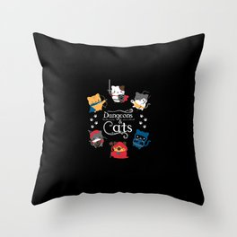 Dungeons And Cats Throw Pillow