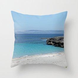 White sandy beach at the Aran Islands Throw Pillow