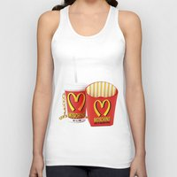 moschino Tank Tops featuring HAPPY MEAL :) by Claudio Velázquez
