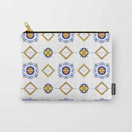 Majolica pattern Carry-All Pouch
