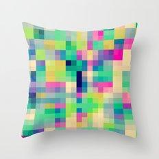 Pixeland Throw Pillow