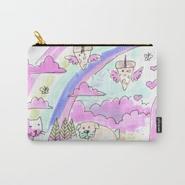 unicorn party rainbow Carry-All Pouch