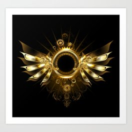 Mechanical Wings ( Steampunk Wings ) Art Print