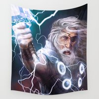 thor Wall Tapestries featuring Thor Odinson by MATT DEMINO