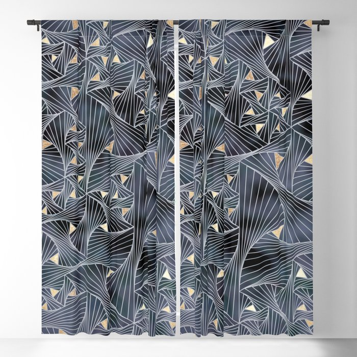 Reverie (in Grey and Gold) Blackout Curtain