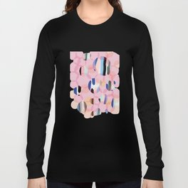 Pink Abstract Platelet #expressive #pink Long Sleeve T-shirt