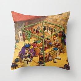 Bartok's Insect Emporium Throw Pillow