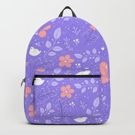 Cute bird and flower pattern Backpack