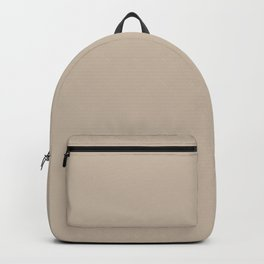 Sherwin Williams Trending Colors of 2019 Dhurrie Beige SW 7524 Solid Color Backpack