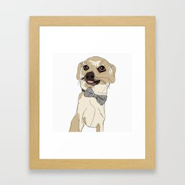 Chihuahua with Bow Tie Framed Art Print