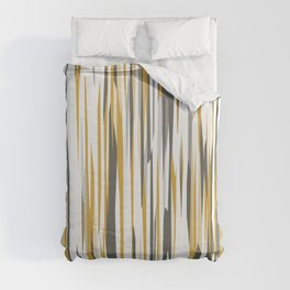Gold gray and white Duvet Cover
