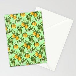 Citrus fruit tree blossom Stationery Cards