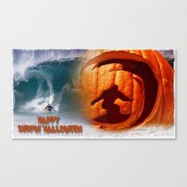 Happy Surfing' Halloween. Canvas Print