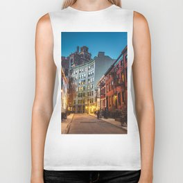 Twilight Hour - West Village, New York City Biker Tank
