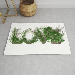 Love Garden Word Design Rug