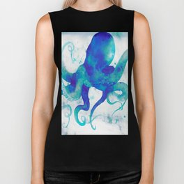 Octopus Watercolor Biker Tank