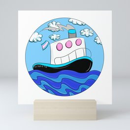 Rub N Tugboat- Trans Mini Art Print