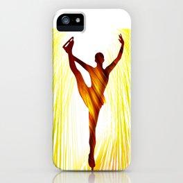 Ladies figure skating. Ballet dancer, ballerina. Winter sport ice rink iPhone Case