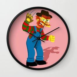 A Nightmare on Springfield Wall Clock
