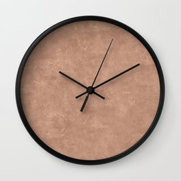 Cafe au Lait Oil Pastel Color Accent Wall Clock