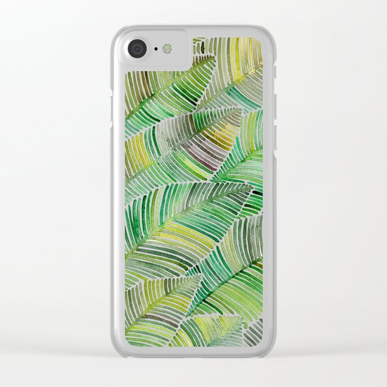 Tropical Green Clear iPhone Case