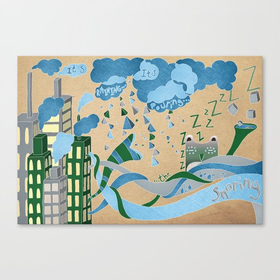 It's Raining its pouring Canvas Print