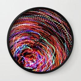 Swirl of Lights. © J. Montague. Wall Clock