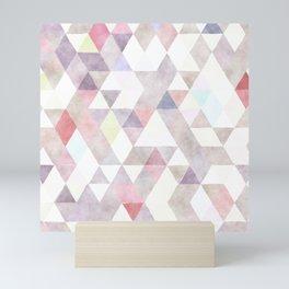 Modern abstract geometrical pastel tones watercolor Mini Art Print