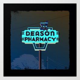 Deason Pharmacy Art Print