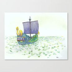 The Sea of Lilies Canvas Print